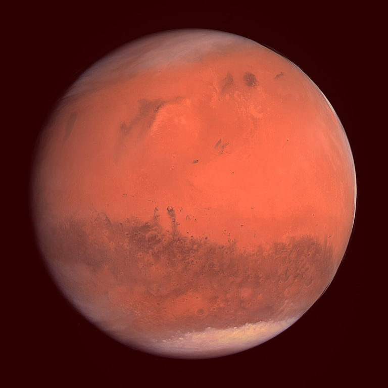 Mars The Fourth Planet From The Sun Polygonal Design Stock
